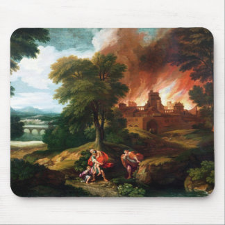 The Burning of Troy Mouse Mat