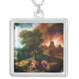 The Burning of Troy Silver Plated Necklace