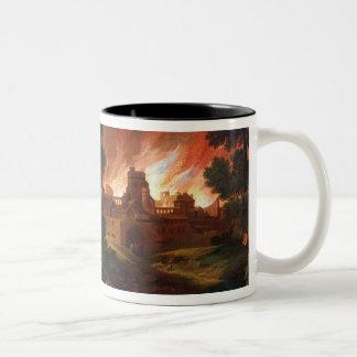 The Burning of Troy Two-Tone Coffee Mug