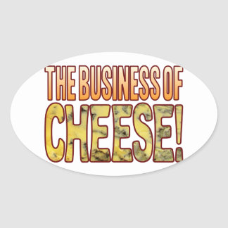 The Business Blue Cheese Oval Sticker