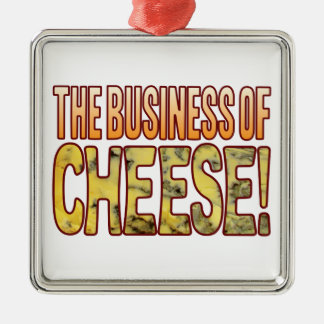The Business Blue Cheese Silver-Colored Square Decoration