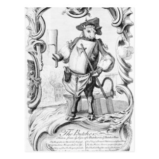 The Butcher, published 1746 Postcard
