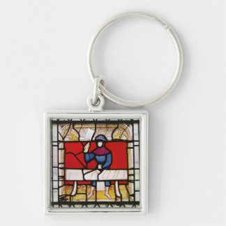 The Butcher's Window Silver-Colored Square Key Ring