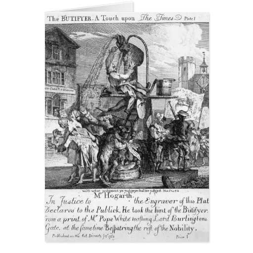 The Butifyer, A Touch upon The Times, 1762 Greeting Cards
