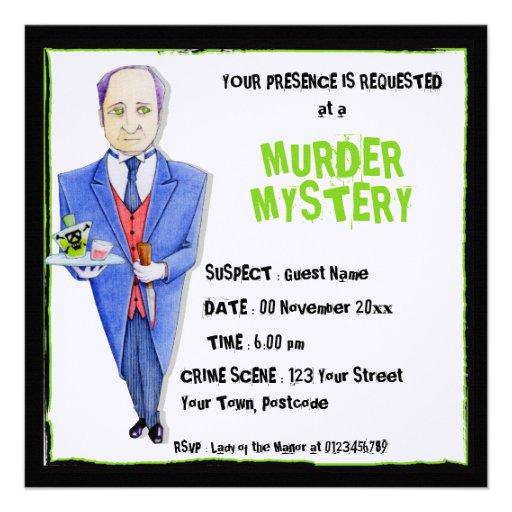The Butler Murder Mystery Invitation