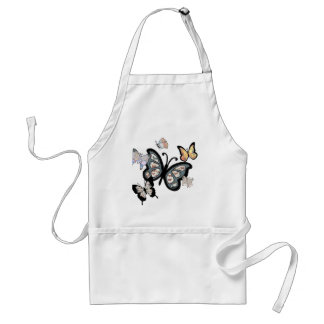 The Butterfly Collection - Butterfly Blues Adult Apron