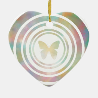 The Butterfly Effect Ceramic Heart Decoration