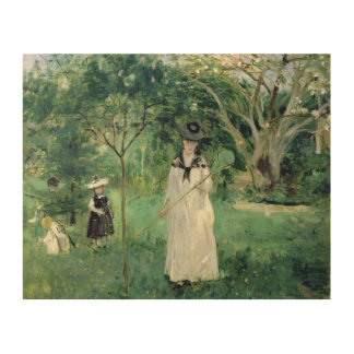 The Butterfly Hunt, 1874 Wood Wall Decor