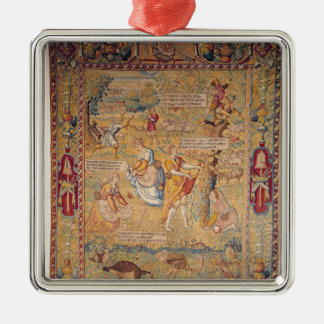 The Butterfly Hunt, from Silver-Colored Square Decoration