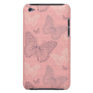 The Butterfly Pink Barely There iPod Covers