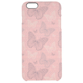 The Butterfly Pink Clear iPhone 6 Plus Case