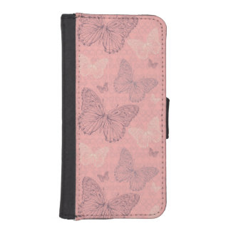 The Butterfly Pink iPhone SE/5/5s Wallet Case