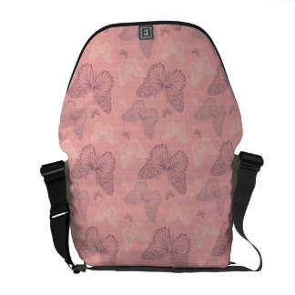 The Butterfly Pink Messenger Bag