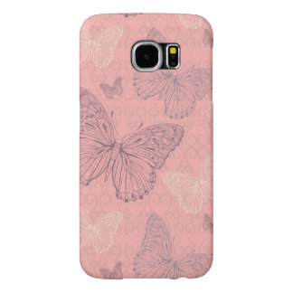 The Butterfly Pink Samsung Galaxy S6 Cases