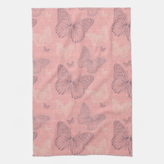 The Butterfly Pink Tea Towel