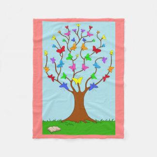 The Butterfly Tree Fleece Blanket