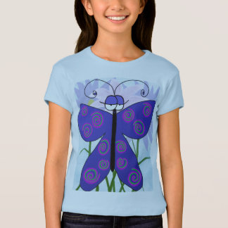 The Butterfly With An Attitude! Girls T-Shirt