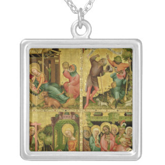 The Buxtehude Altar, right wing, 1400-10 Silver Plated Necklace