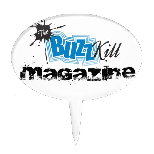 The Buzz Kill Magazine Cake Toppers