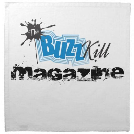 The Buzz Kill Magazine Cloth Napkins