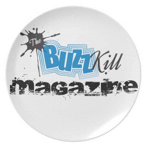 The Buzz Kill Magazine Dinner Plate