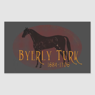 The Byerly Turk Rectangle Stickers