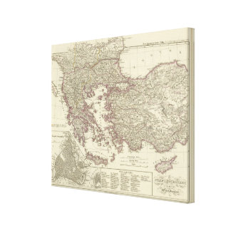 The Byzantine Empire until the Xite Canvas Print