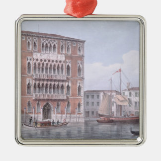 The Ca' Foscari, Venice, engraved by Brizeghel (li Christmas Ornament