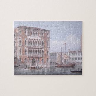 The Ca' Foscari, Venice, engraved by Brizeghel (li Jigsaw Puzzle
