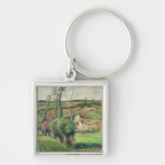 The Cabbage Slopes, Pontoise, 1882 Silver-Colored Square Key Ring