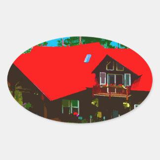 The Cabin 2 Oval Sticker