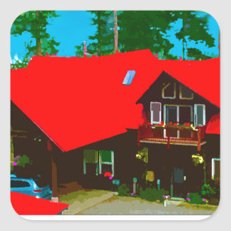 The Cabin 2 Square Sticker