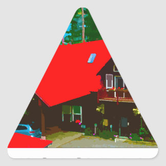 The Cabin 2 Triangle Stickers