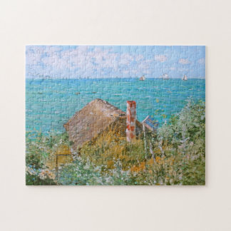 The Cabin at Sainte-Adresse Monet Fine Art Jigsaw Puzzle
