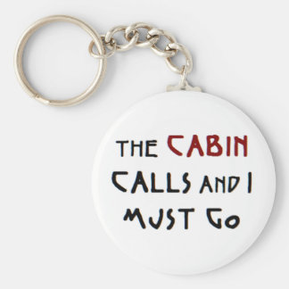 the cabin calls basic round button key ring