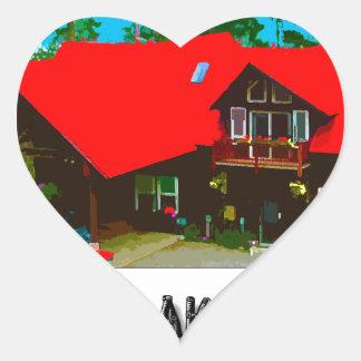 The Cabin Heart Sticker