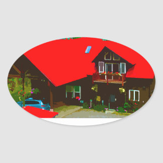 The Cabin Oval Sticker