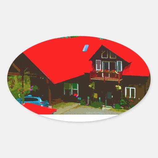The Cabin Oval Sticker
