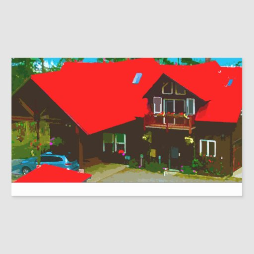 The Cabin Rectangular Sticker