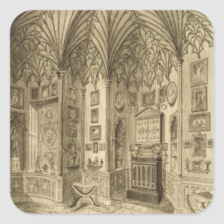 The Cabinet, engraved by T. Morris, from 'Descript Stickers