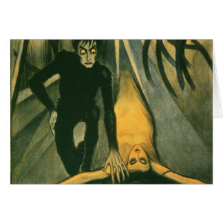 The Cabinet of Dr Caligari movie poster Greeting Cards