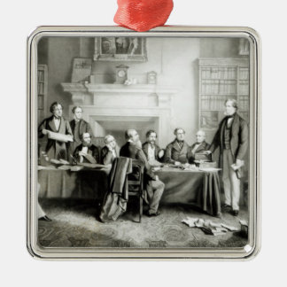 The Cabinet of Lord Derby of 1867, 1868 Silver-Colored Square Decoration