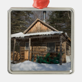 The cabins at the AMC's Little Lyford Pond Christmas Ornament