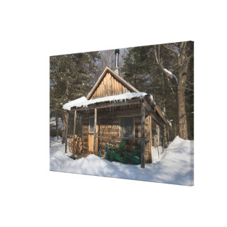 The cabins at the AMC's Little Lyford Pond Gallery Wrap Canvas
