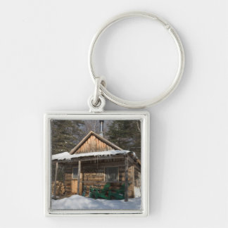 The cabins at the AMC's Little Lyford Pond Key Ring