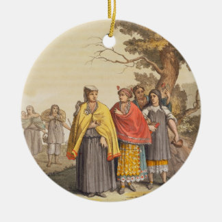The Caciche Indians in Traditional Costumes, Nova Christmas Ornament