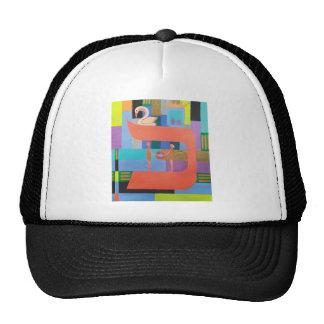 The Caf Letter - Hebrew Alphabet Mesh Hat