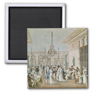 The Cafe Frascati in 1807 Square Magnet