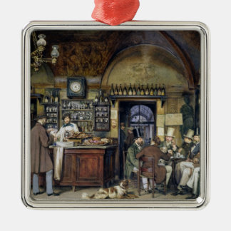 The Cafe in Rome, 1856 Christmas Ornament