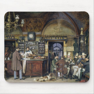 The Cafe in Rome, 1856 Mouse Mat